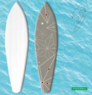 Звездный паттерн - Наклейки на серф