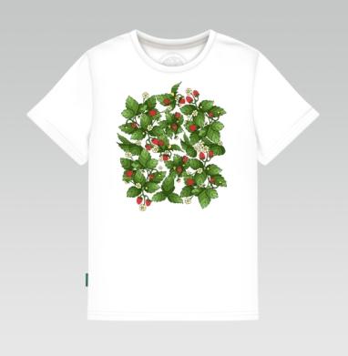 Детская футболка белая - Спелая клубничка