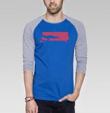 No More Milk - Футболка мужская с длинным рукавом синий / серый меланж, мода, Популярные