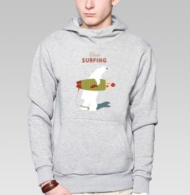 Медведь-Сёрфер или Медвежий сёрфинг - Заказать толстовку Москва через интернет. Каталог принтов на толстовке Москва.