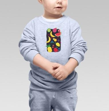 Фрукты - Купить детские свитшоты с фруктами в Москве, цена детских свитшотов с фруктами  с прикольными принтами - магазин дизайнерской одежды MaryJane