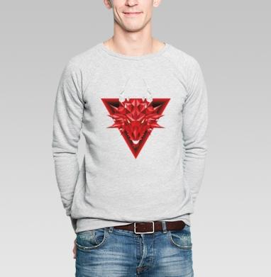 Дракон - Купить мужские свитшоты с геометрическим рисунком в Москве, цена мужских свитшотов с геометрическим рисунком  с прикольными принтами - магазин дизайнерской одежды MaryJane