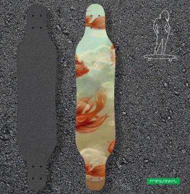 Красные рыбки - Наклейки на лонгборд