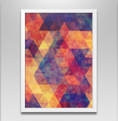 Геометрия - Постер в белой раме, геометрия