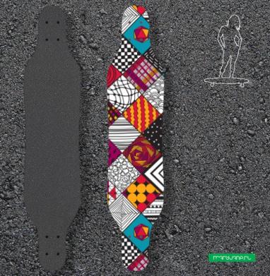 Графический узор - Наклейки на лонгборд