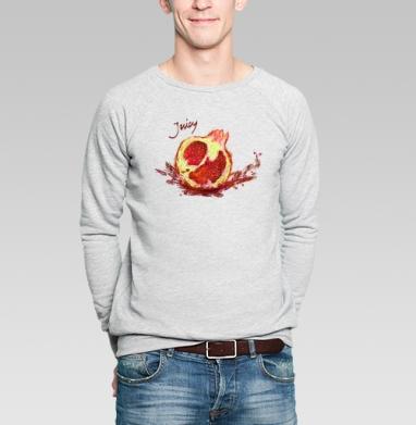 Сочный гранат - Купить мужские свитшоты с фруктами в Москве, цена мужских свитшотов с фруктами  с прикольными принтами - магазин дизайнерской одежды MaryJane