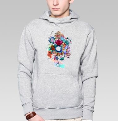 Имэджин - Толстовка серая с капюшоном, цвет