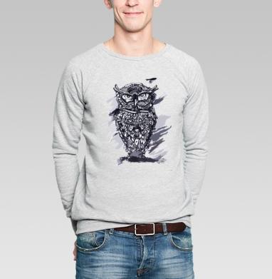 Сова - Купить мужские свитшоты с птицами в Москве, цена мужских  с птицами  с прикольными принтами - магазин дизайнерской одежды MaryJane