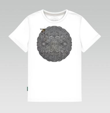 Детская футболка белая - Каменный орнамент