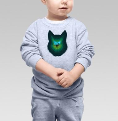 Лесная пещера - Купить детские свитшоты с волками в Москве, цена детских свитшотов с волками  с прикольными принтами - магазин дизайнерской одежды MaryJane