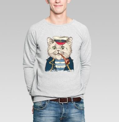 Пират-кот - Купить мужские свитшоты с летом в Москве, цена мужских  с летом  с прикольными принтами - магазин дизайнерской одежды MaryJane