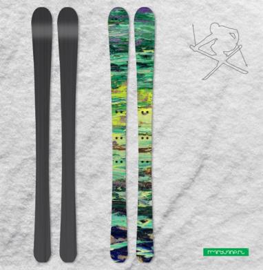 Имя изумруда - Наклейки на лыжи