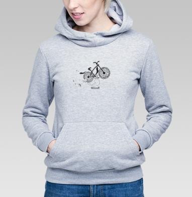 Велосипед и одуванчики - Купить детские толстовки с велосипедом в Москве, цена детских толстовок с велосипедом  с прикольными принтами - магазин дизайнерской одежды MaryJane
