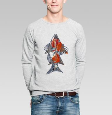 Геометрия рыбы - Купить мужские свитшоты с рыбой в Москве, цена мужских свитшотов с рыбой  с прикольными принтами - магазин дизайнерской одежды MaryJane