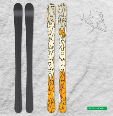 Лисья семейка - Наклейки на лыжи
