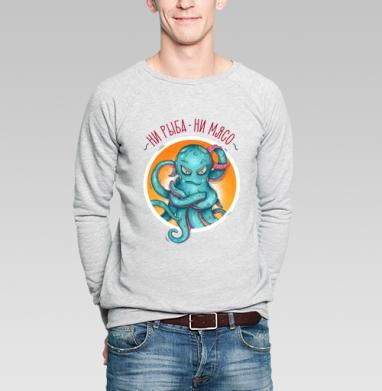 Ни рыба ни мясо - Купить мужские свитшоты с надписями в Москве, цена мужских свитшотов с надписями  с прикольными принтами - магазин дизайнерской одежды MaryJane
