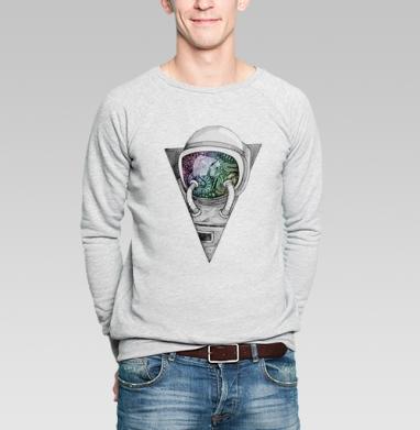 Космонавт - Купить мужские свитшоты Текстуры в Москве, цена мужских свитшотов Текстуры с прикольными принтами - магазин дизайнерской одежды MaryJane