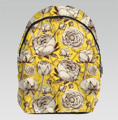 Пионы на желтом - Рюкзак
