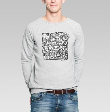 Дудл - Купить мужские свитшоты с графикой в Москве, цена мужских  с графикой  с прикольными принтами - магазин дизайнерской одежды MaryJane