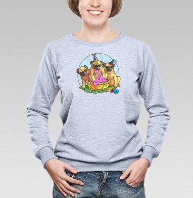Три толстяка - Купить детские свитшоты с собаками в Москве, цена детских свитшотов с собаками  с прикольными принтами - магазин дизайнерской одежды MaryJane