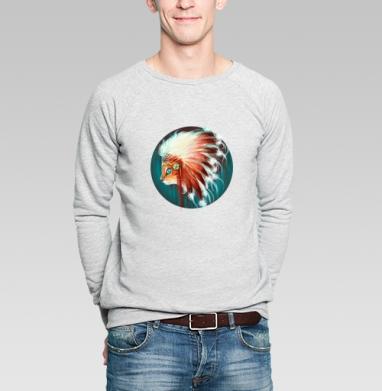 Вождь красношерстных - Купить мужские свитшоты с индейцами в Москве, цена мужских  с индейцами  с прикольными принтами - магазин дизайнерской одежды MaryJane