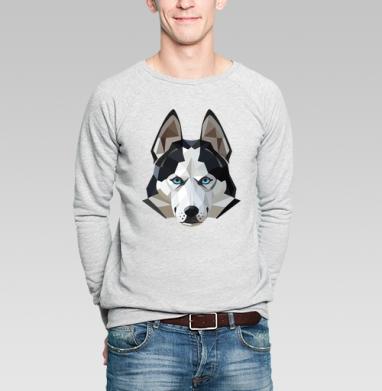 Хаски лед - Купить мужские свитшоты с собаками в Москве, цена мужских свитшотов с собаками  с прикольными принтами - магазин дизайнерской одежды MaryJane