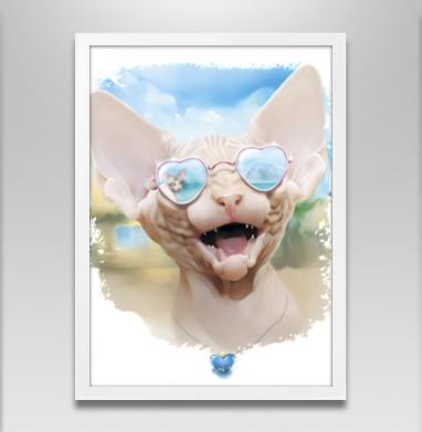 Курортный роман - Постер в белой раме, улыбка