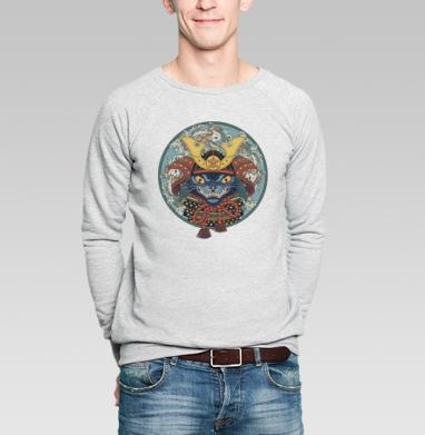 Самурай - Купить мужские свитшоты с кошками в Москве, цена мужских  с кошками  с прикольными принтами - магазин дизайнерской одежды MaryJane