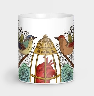 Узор с птичками - розы, Новинки