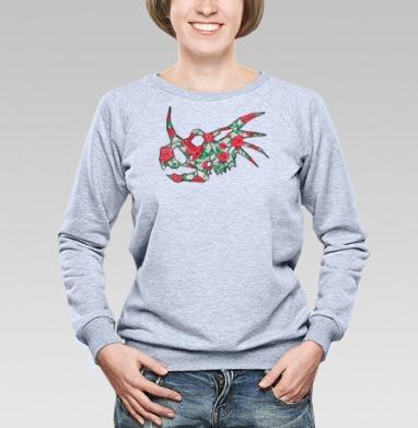 Винтажный трицератопс - Купить женские свитшоты с роами в Москве, цена женских свитшотов с розой с прикольными принтами - магазин дизайнерской одежды MaryJane