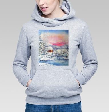 Зимний пейзаж - Купить детские толстовки с живописью в Москве, цена детских толстовок с живописью  с прикольными принтами - магазин дизайнерской одежды MaryJane