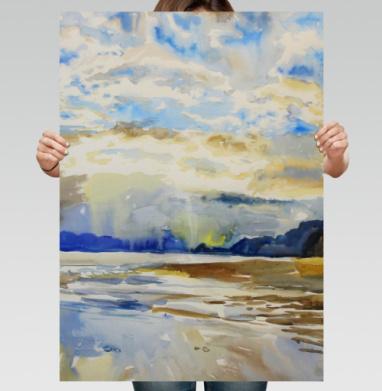 Облачное море - Постер вертикальный, живопись