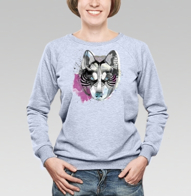 Акварельный волк - Купить детские свитшоты с волками в Москве, цена детских свитшотов с волками  с прикольными принтами - магазин дизайнерской одежды MaryJane