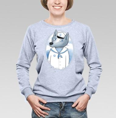 Волк-морячок - Купить детские свитшоты с волками в Москве, цена детских свитшотов с волками  с прикольными принтами - магазин дизайнерской одежды MaryJane