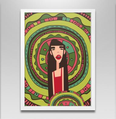 Лесная девушка - Постер в белой раме, красота