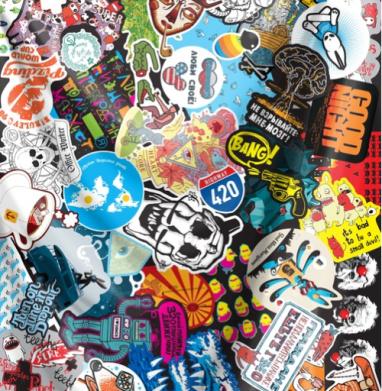 Стикербомбинг Stickerbombing AG - Печать на текстиле