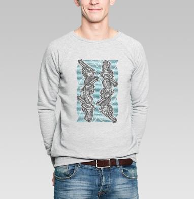 Пиу-пиу - Купить мужские свитшоты с оружием в Москве, цена мужских свитшотов с оружием  с прикольными принтами - магазин дизайнерской одежды MaryJane