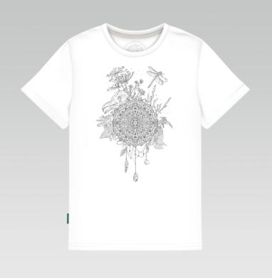 Детская футболка белая - Русское поле