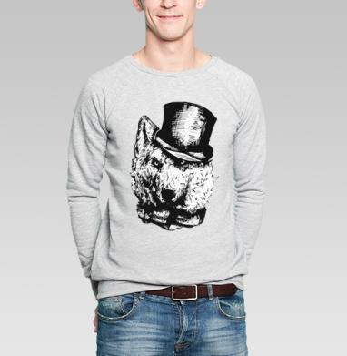 Волк - Купить мужские свитшоты с собаками в Москве, цена мужских свитшотов с собаками  с прикольными принтами - магазин дизайнерской одежды MaryJane