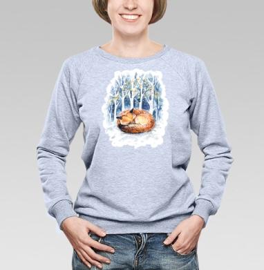 Зимняя лисичка - Купить детские свитшоты милые в Москве, цена детских свитшотов милых  с прикольными принтами - магазин дизайнерской одежды MaryJane