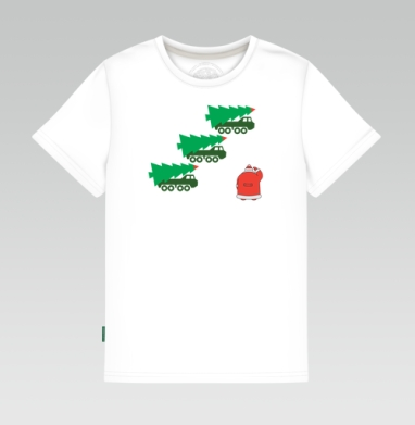 Детская футболка белая - УРА