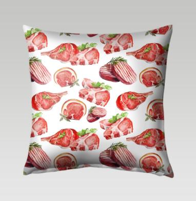 Мясо - Подушки с принтом