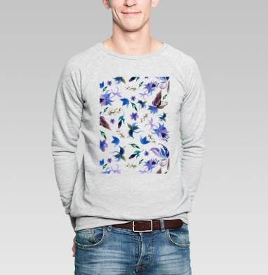 Акварельные цветы  - Купить мужские свитшоты с акварелью в Москве, цена мужских свитшотов с акварелью  с прикольными принтами - магазин дизайнерской одежды MaryJane