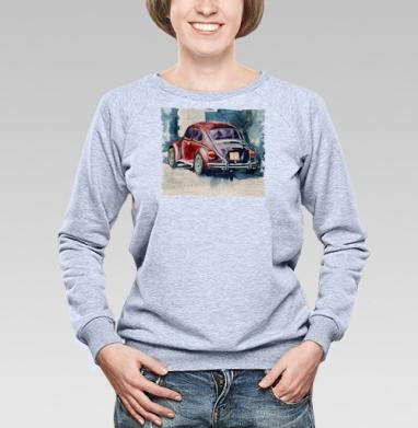 Ретро букаш - Купить женские свитшоты с автомобилями в Москве, цена женских свитшотов с автомобилями  с прикольными принтами - магазин дизайнерской одежды MaryJane
