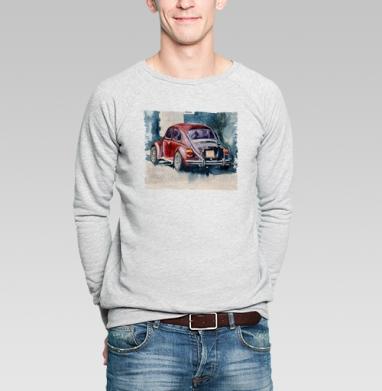 Ретро букаш - Купить мужские свитшоты с акварелью в Москве, цена мужских свитшотов с акварелью  с прикольными принтами - магазин дизайнерской одежды MaryJane