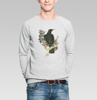 Скворец - Купить мужские свитшоты с птицами в Москве, цена мужских свитшотов с птицами  с прикольными принтами - магазин дизайнерской одежды MaryJane