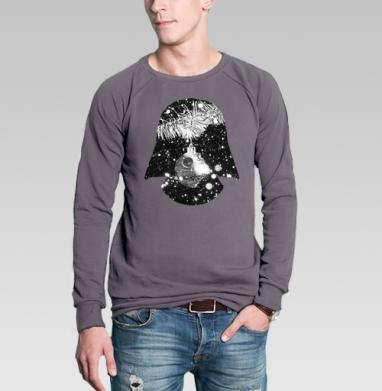 Свитшот мужской без капюшона тёмно-серый - Тёмная сторона нового года