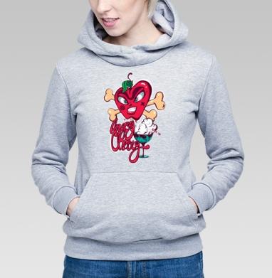Злобная вишенка - Купить детские толстовки серые в Москве, цена детских толстовок серых с прикольными принтами - магазин дизайнерской одежды MaryJane