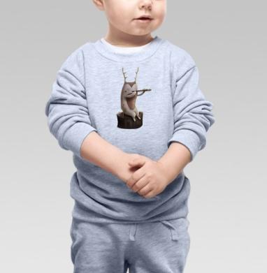Дух, играющий на флейте - Купить детские свитшоты с природой в Москве, цена детских свитшотов с природой  с прикольными принтами - магазин дизайнерской одежды MaryJane