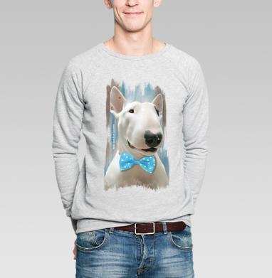 Истинный джентльмен  - Купить мужские свитшоты с собаками в Москве, цена мужских свитшотов с собаками  с прикольными принтами - магазин дизайнерской одежды MaryJane